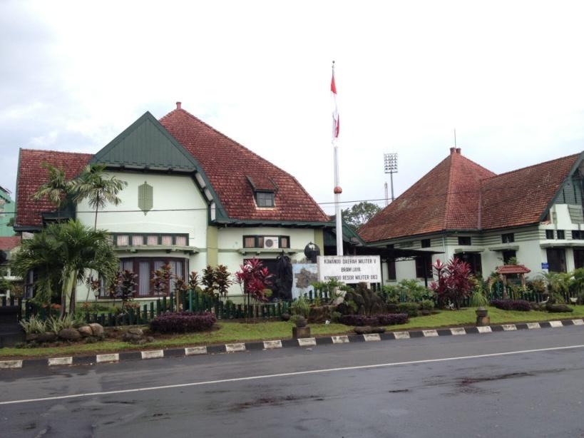 Maisons hollandaises à Malang