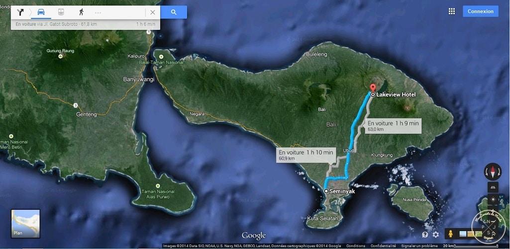 Route Batur