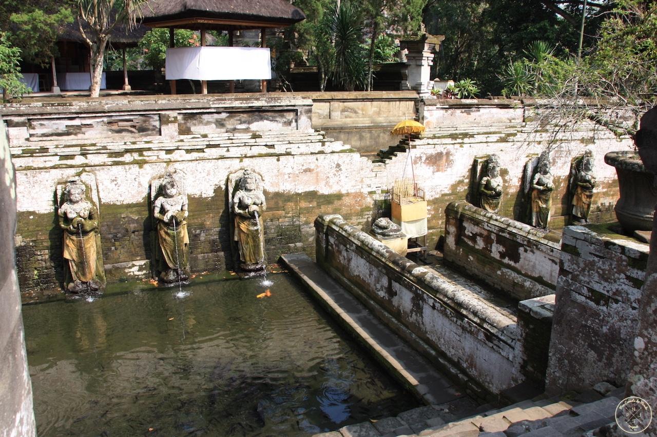 Temple de Goa Gajah à Bali, Indonésie - Les bassins - Mes Carnets du Monde
