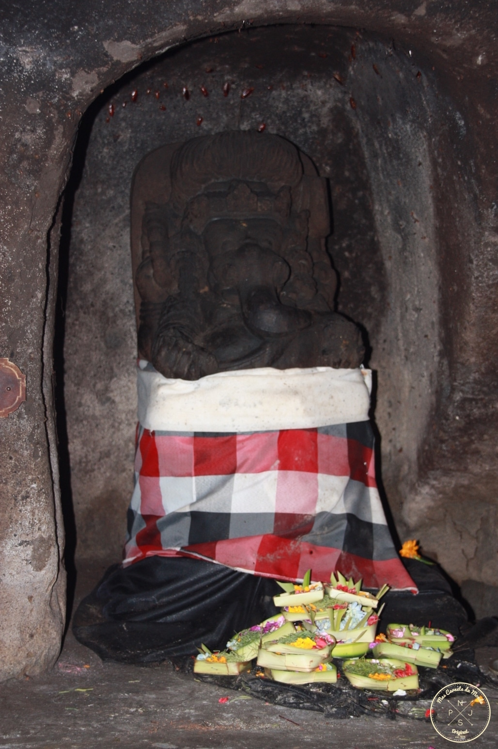 Temple de Goa Gajah à Bali, Indonésie - Ganesh - Mes Carnets du Monde