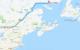 distance par la route entre Montréal et Baie Johan Beetz, au Québec, Canada